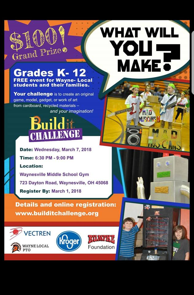 build it challenge colorful poster