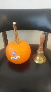 pumpkin and bell