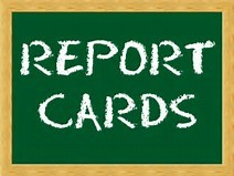 report card word on green chalkboard
