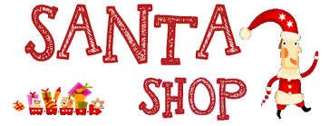the word Santa Shop