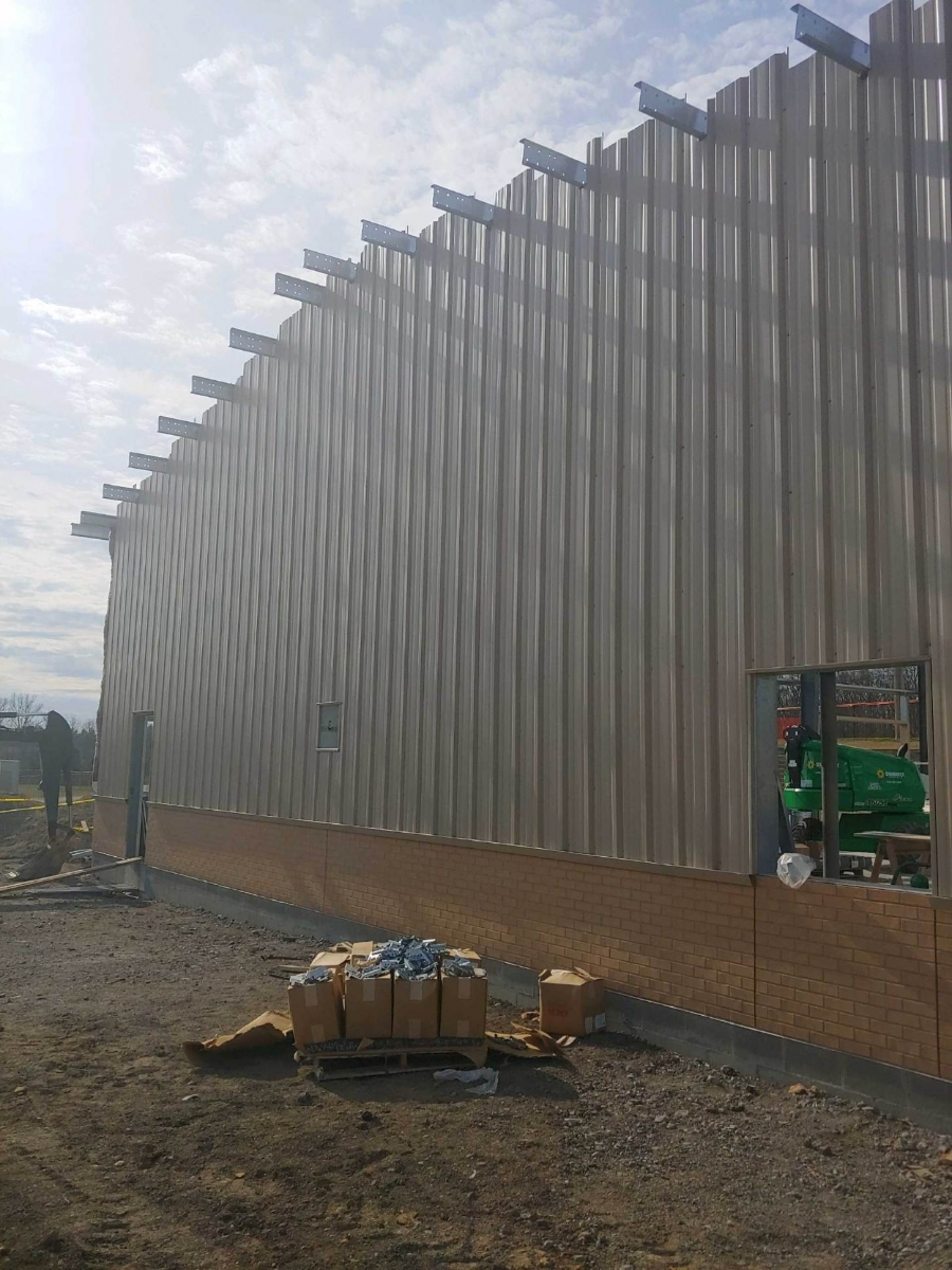 image of siding on a new building