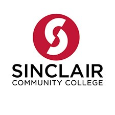 sinclair college logo red circle