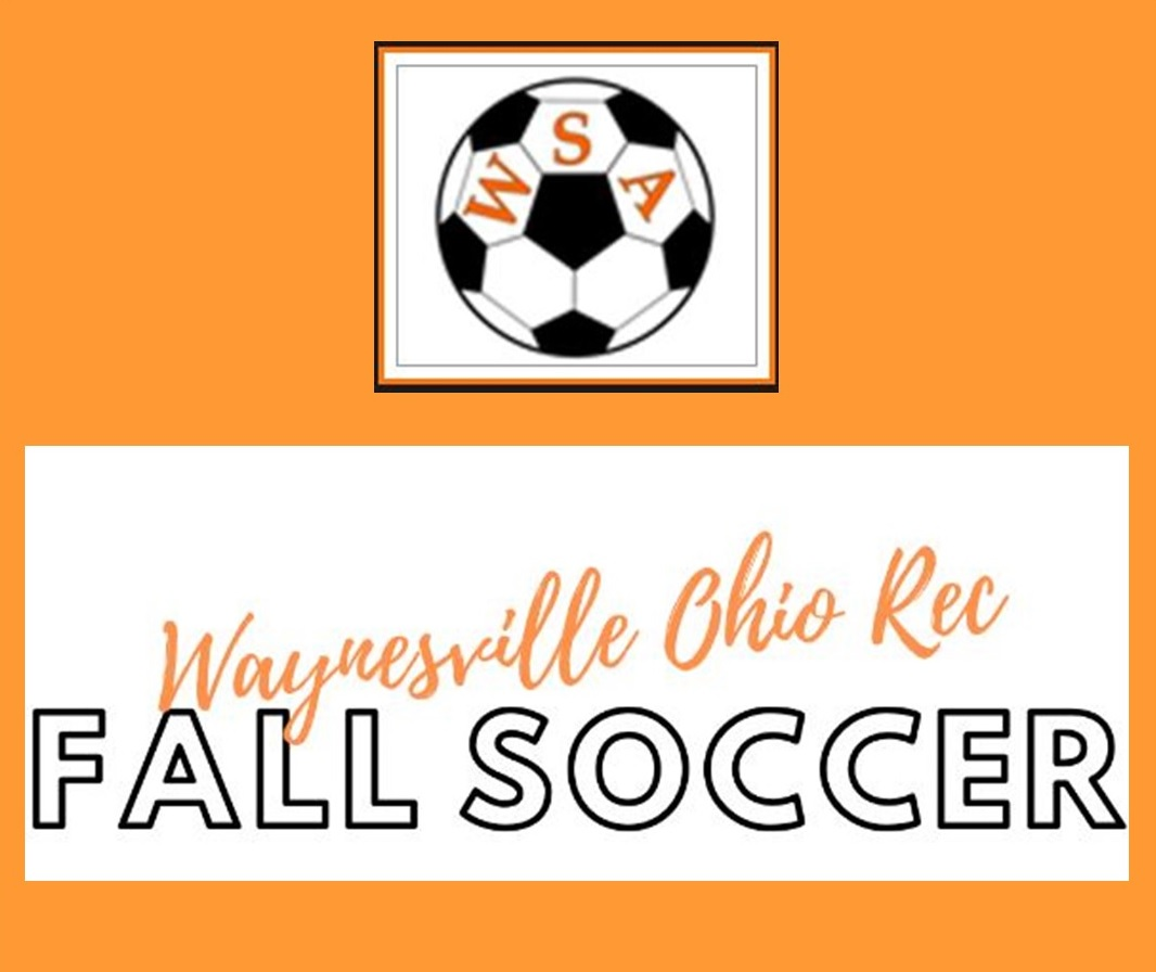 orange background with soccer ball and words