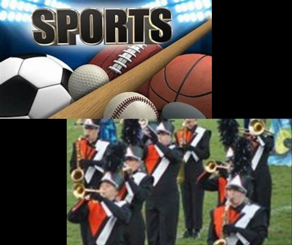 image with band and sports people