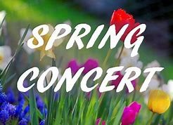 colorful flowers with spring concert words