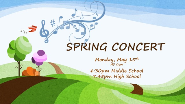 image of the spring concert advertisement
