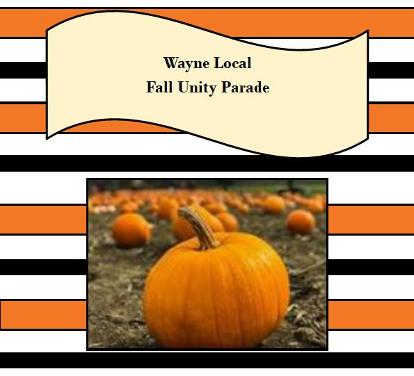 orange and black lines with a pumpkin