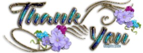 images with floral flare stating the words thank you