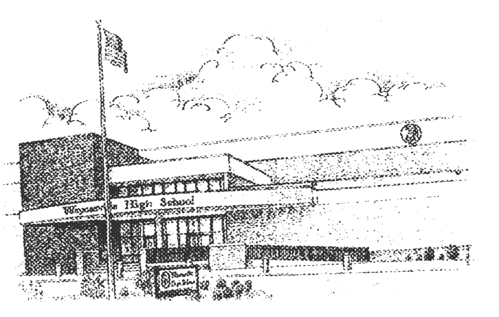 black and white sketch of a building