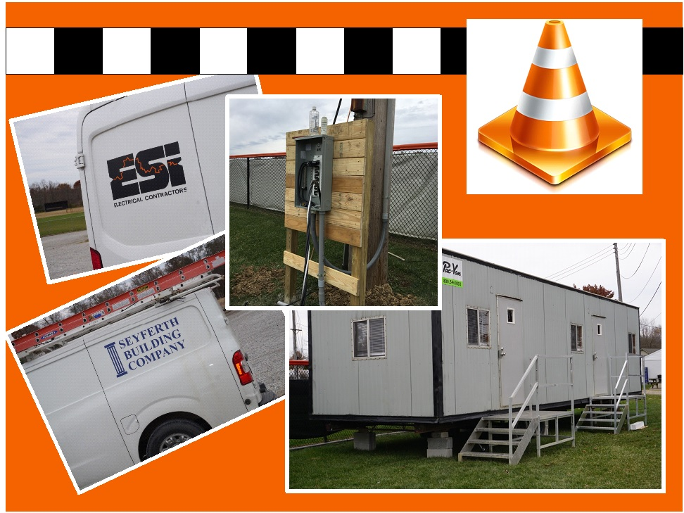 collage images of trailer and workvans