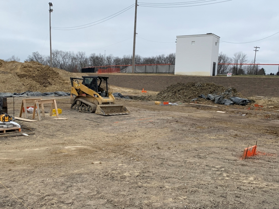 construction site with equipment and dirt
