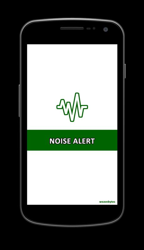 smart phone with noise alert app on it