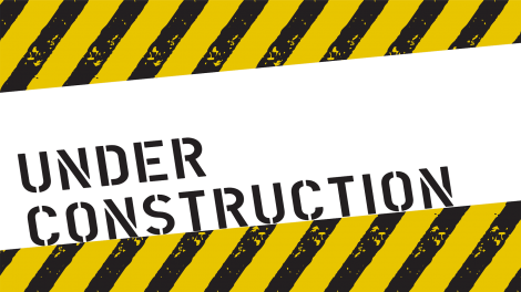 under construction banner tape