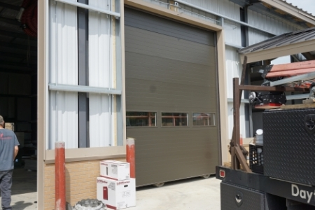 bus barn garage door