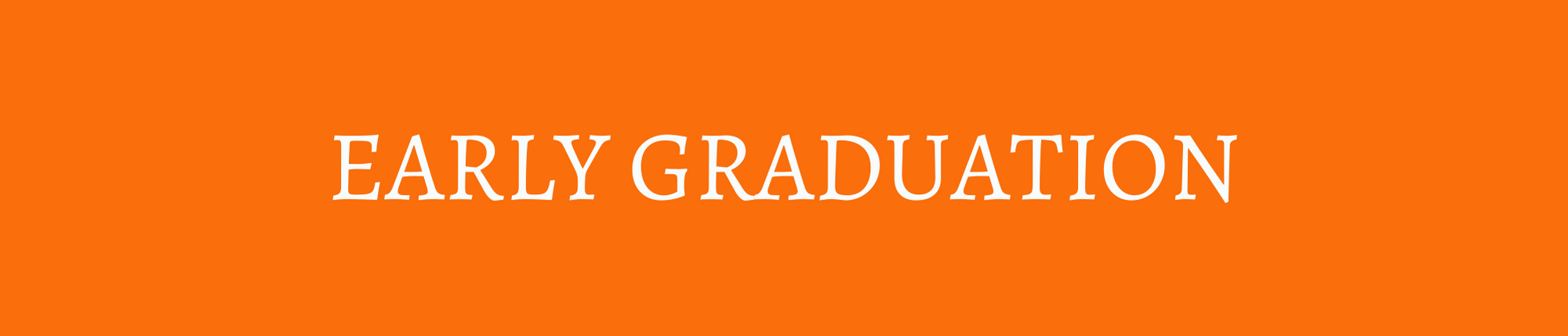 orange banner with white lettering